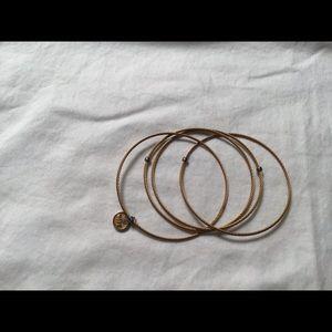 ALOR Hope slip on 4 intertwined bangles bracelet